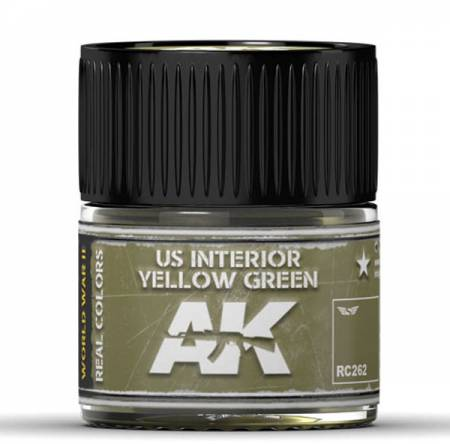 Real Colors: US Interior Yellow Green Acrylic Lacquer Paint