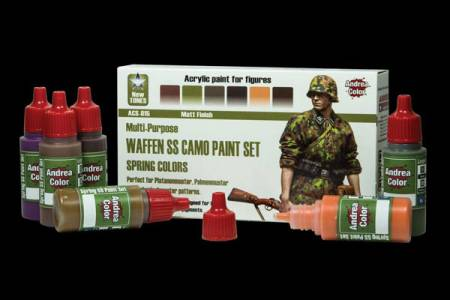 Andrea Color Waffen SS Camo Paint Set (Spring Colors)