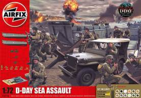 D-Day The Sea Assault Gift Set w/Paints & Glue