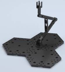 Black Display Stand Action Base