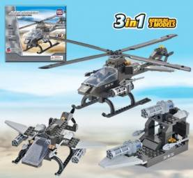 Air Force Attack Helicopter 3 in 1