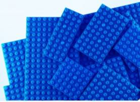 Assorted Sizes Blue Baseplates