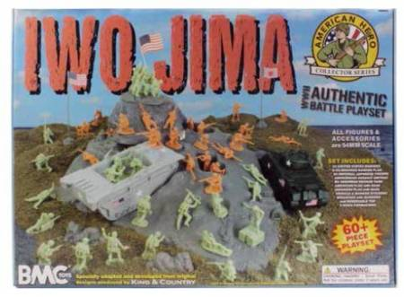 WWII Battle of Iwo Jima Boxed Playset