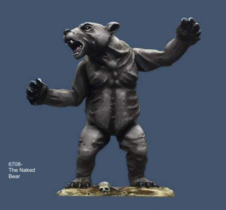 The Naked Bear Spirit Creature