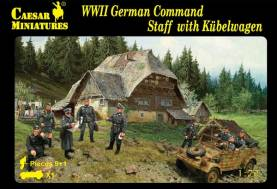 WWII German Command Staff with Kubelwagen