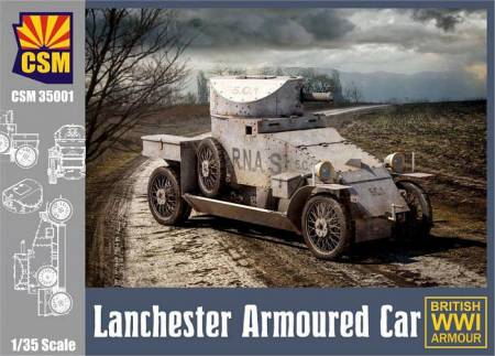 WW1 British Lanchester Armoured Car
