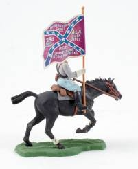 Britains Swoppet Mounted Confederate Flag Bearer