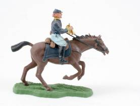 Britains Swoppet Mounted Union Bugler