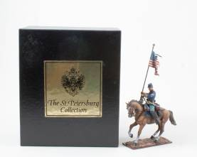 St. Petersburg Collection AeroArt Union Cavalryman With Flag #3912.1 NIB 1 Available OOP