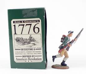 King & Country 1776 American Revolution Continental Marine Charging #AR22 NIB 1 Available OOP