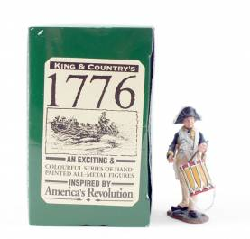 King & Country 1776 American Revolution Continental Drummer Boy #AR37 NIB 1 Available OOP