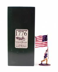 King & Country 1776 American Revolution NY Regimental Flagbearer #AR12 NIB 1 Available OOP