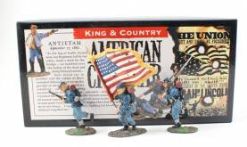 King & Country ACW Union Infantry Stars And Stripes #ACW01 NIB 1 Available OOP