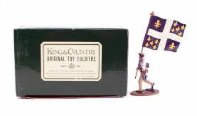 King & Country 1776 American Revolution French Flagbearer #AR19 NIB 1 Available OOP