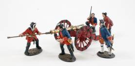 BATTLE ON THE PLAINS OF ABRAHAM 1759 - FRENCH ARTILLERY GUN AND CREW QF-ART - 1 AVAILABLE OOP