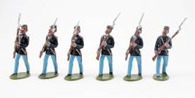 Alte Deutsche Spielfiguren Advancing Union Infantry