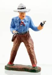 Elastolin 6970 Cowboy With Two Revolvers