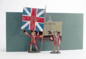 Fusilier Officer with Kings Colour And NCO