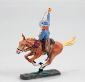 Elastolin 6998 Mounted Cowboy With Lasso