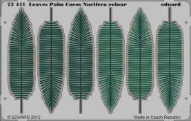 Pre Painted Photo Etched Palm Cocos Leaves