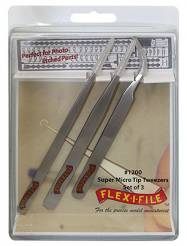 Flex-I-File Stainless Steel Tweezer Set