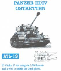 Panzer III/IV Ostketten Track Set (215 Links & 75 Ice Sprags)