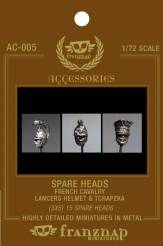 Spare Heads French Cavalry: Lancers Helm & Tchapzka