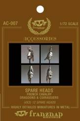 Spare Heads French Cavalry: Dragoons & Cuirassiers