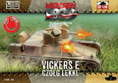 WWII Vickers E Polish Light Tank w/Double Turret