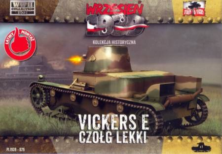 WWII Vickers E Polish Light Tank w/Single Turret