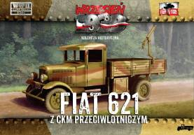 WWII Polish Fiat 621 Truck with AA Machine Gun