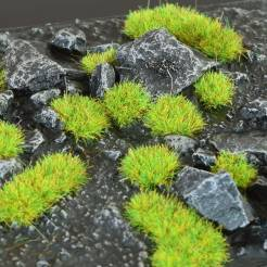 2mm Grass Tufts - Bright Green