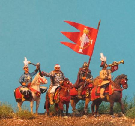 Command Group - Winged Hussar on Standing Horses