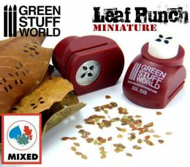 Miniature Leaf Punch - RED - Mixed