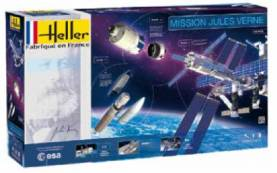 Mission Jules Verne Space Set: ATV, Ariane 5 & International Space Station w/Paint & Glue