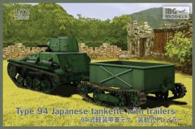 Type 94 Japanese Tankette w/2 Trailers