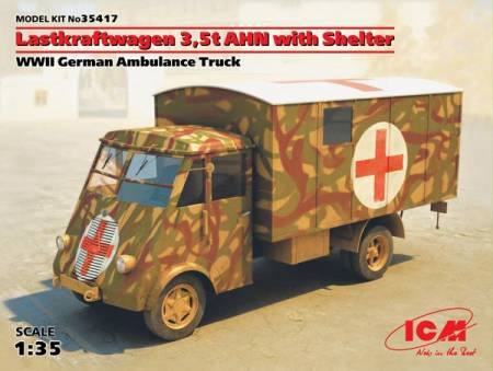 WWII Lastkraftwagen 3.5t AHN w/Shelter German Ambulance Truck