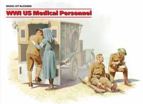WWI US Medical Personnel - 4 figure set