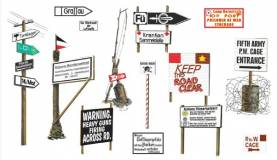WWII Road Signs