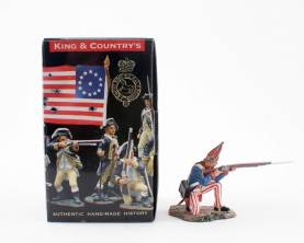 KING & COUNTRY BR065 AMERICAN REVOLUTION HESSIAN KNEELING FIRING 1 AVAILABLE OOP