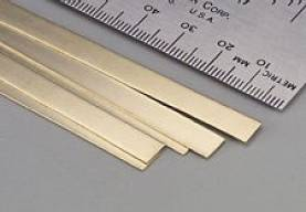 Brass Strip .016 x 1/4 x 12 - 1 pc.