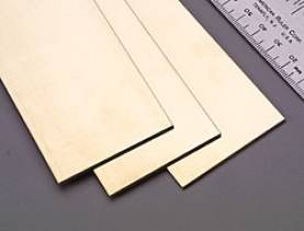 Brass Strip .064 x 2 x 12 - 1 pc.