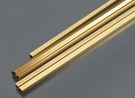 Square Brass Tube .014 Wall - 3/16 x 12- 1 pc.