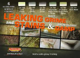 Leaking Grime Matt - Stains & Damp Satin Glossy Diorama Acrylic Set