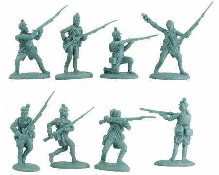Revolution War American Light Infantry Playset