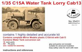C15A Cab 13 Water Tank Lorry Truck (Plastic)