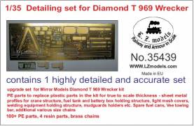 Diamond T 969 Wrecker Detail Set for Mirror Models (Photo-Etch & Resin)