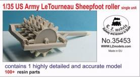 US Army Letourneau Sheepfoot Roller Single Unit for MNA & LZM (Resin)