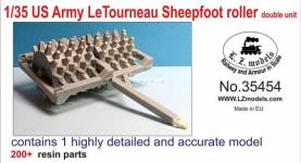 US Army Letourneau Sheepfoot Roller Double Unit for MNA & LZM (Resin)
