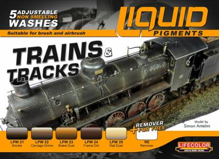 Trains & Tracks Railway Weathering Liquid Pigments Set